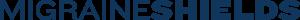 Migraine Shields Text Logo in Navy